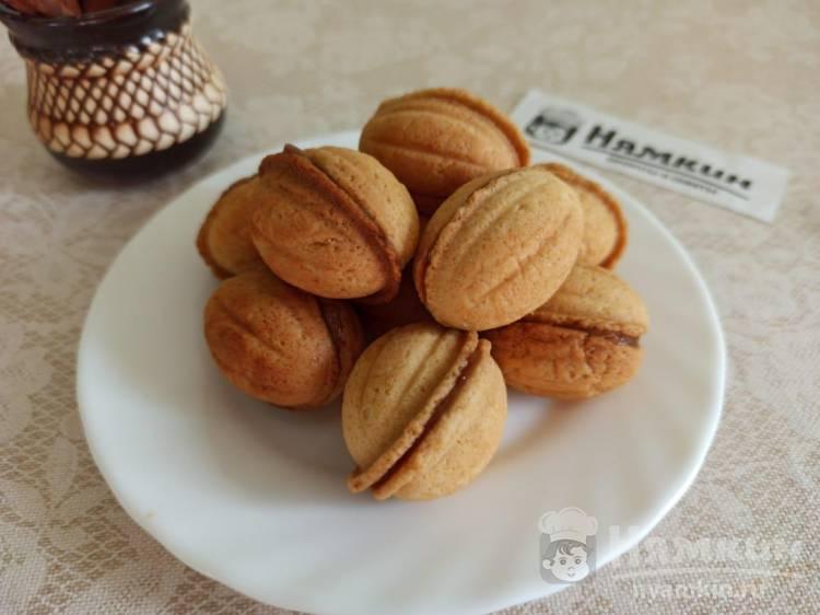 Печенье Орешки с вареной сгущенкой в мультипекаре