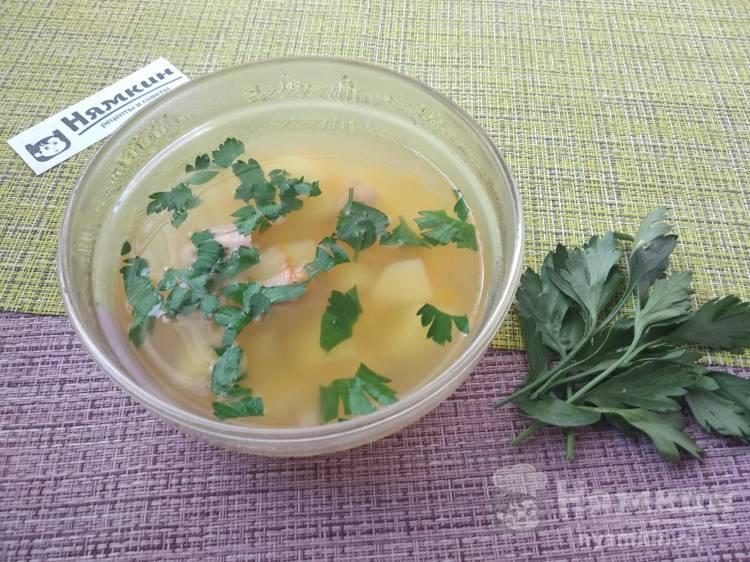 Суп из консервированного тунца с картофелем