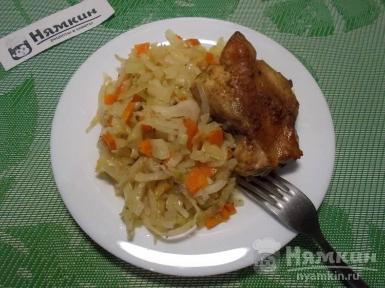 Курица с капустой запеченные в духовке