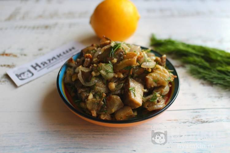 Закуска из баклажанов с грецкими орехами в духовке