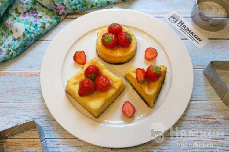 Сливочный десерт из печенья, сливочного сыра и сгущенного молока