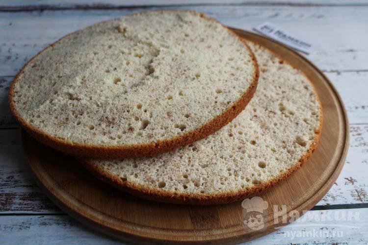 Бисквит с медом и грецкими орехами для тортов и пирожных