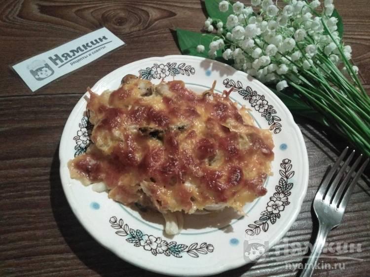 Свинина с белыми грибами и сыром в духовке на праздничный стол