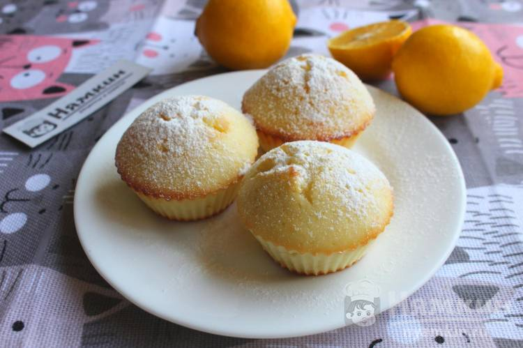 Лимонные кексы в формочках: воздушные и ароматные