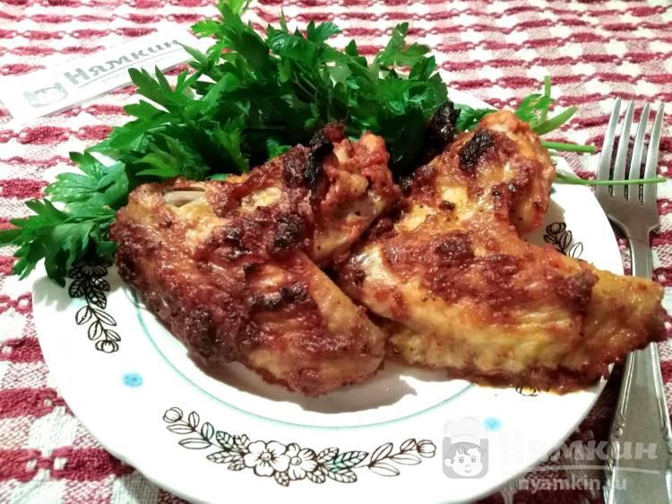 Крылья-гриль с томатной пастой без чеснока в микроволновке