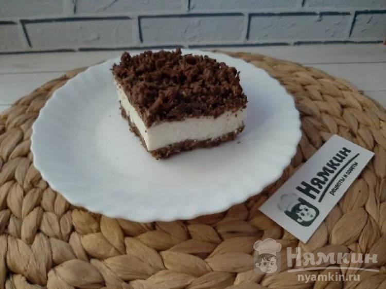 ПП шоколадный пирог с творогом в духовке