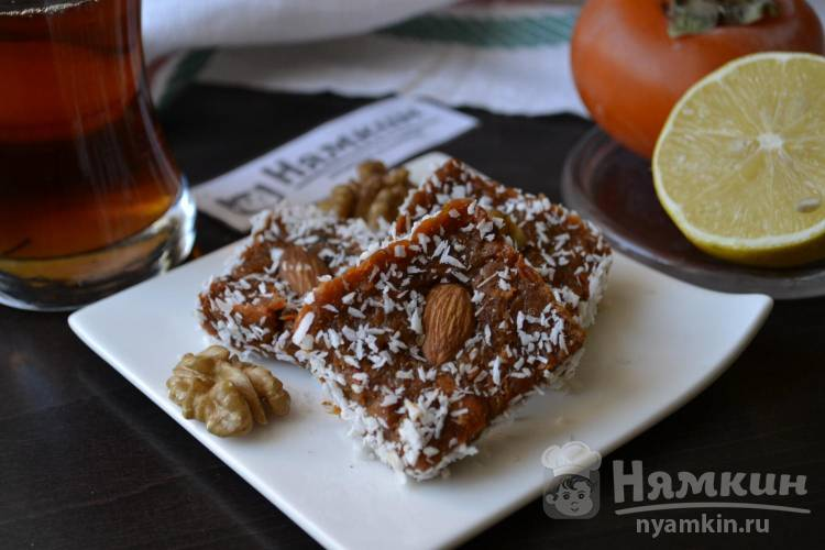 Турецкая сладость Джезерье: конфеты из моркови