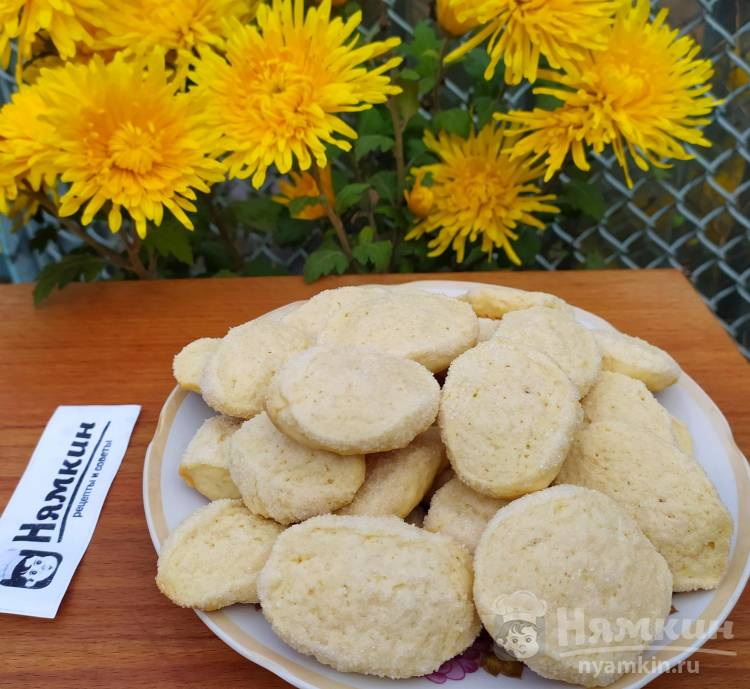 Домашнее печенье на молоке и сливочном масле