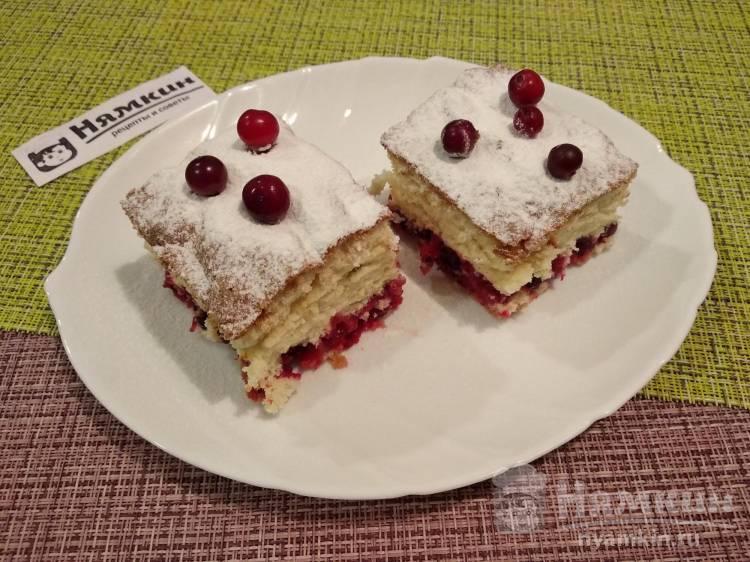 Пирог с клюквой и ванилью: пышный и ароматный