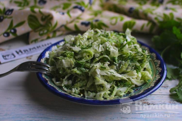 Салат из пекинской капусты с редькой и зеленью