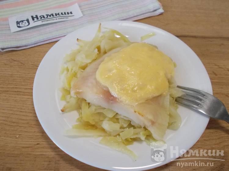 Капуста с рыбой в духовке на сытный обед