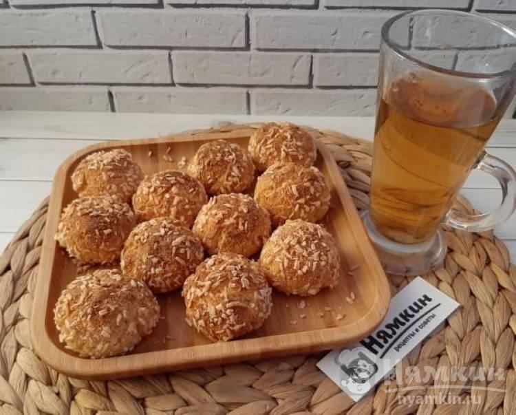 Творожные булочки с кокосовой мукой в духовке