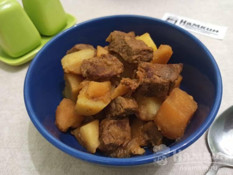 Говядина с картошкой и луком в мультиварке: вкусная и ароматная