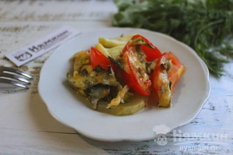 Кабачки с помидорами в духовке по-итальянски