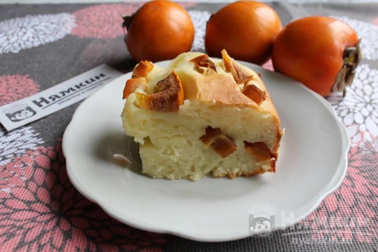 Заливной пирог с хурмой в духовке: пышный и мягкий