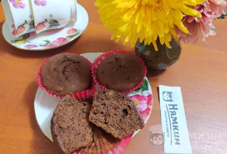 Шоколадные кексы с изюмом на сливочном масле