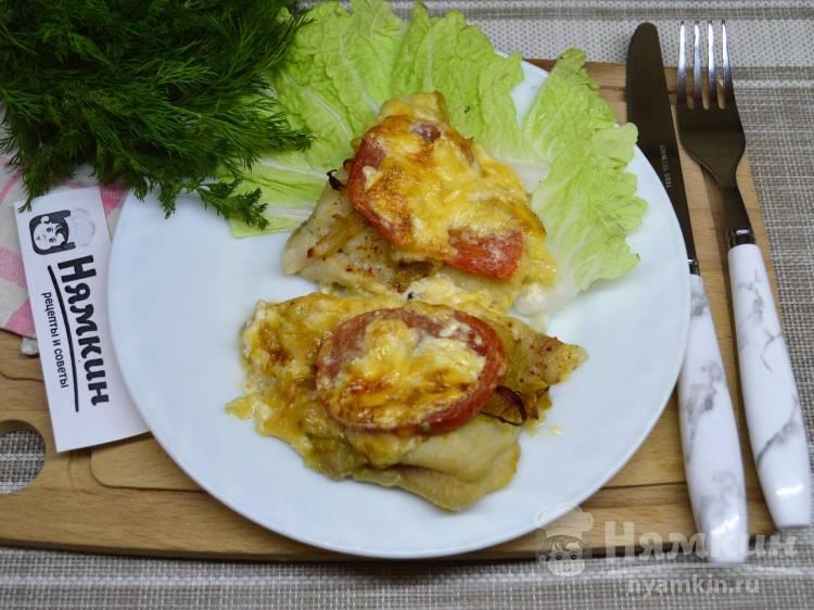 Пангасиус в духовке с помидорами и сыром по-французски
