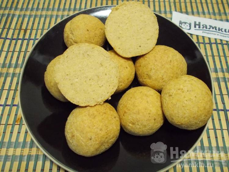 Гороховые булочки без муки и дрожжей в духовке