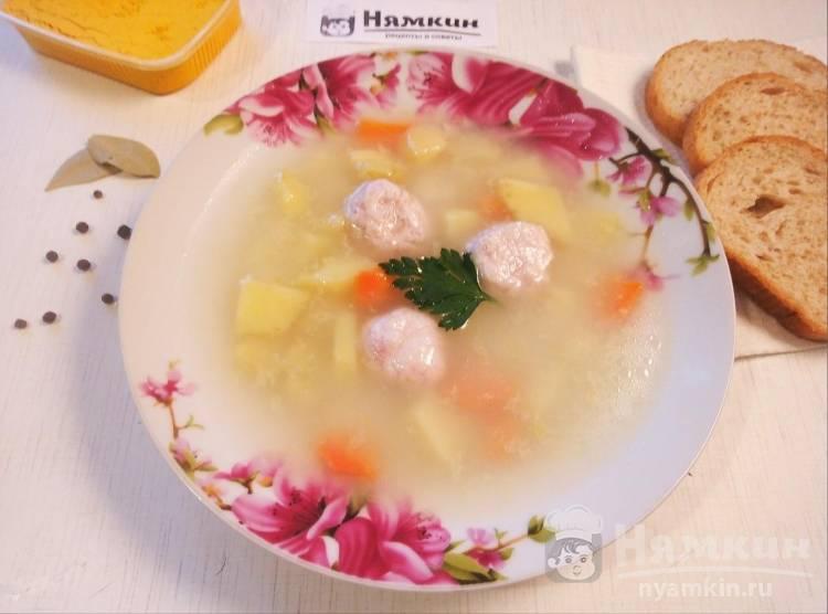 Суп с куриными фрикадельками и овощами на сытный обед