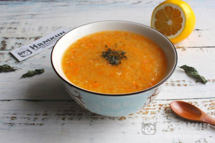 Турецкий чечевичный суп-пюре из красной чечевицы