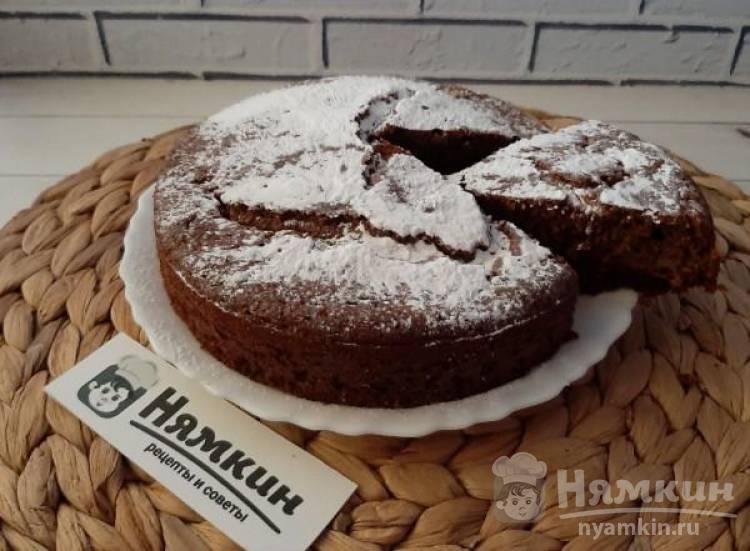 Очень вкусный апельсиновый пирог с грецкими орехами и шоколадом