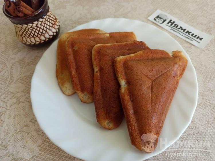 Ленивые пирожки с яблоками и курагой в мультипекаре