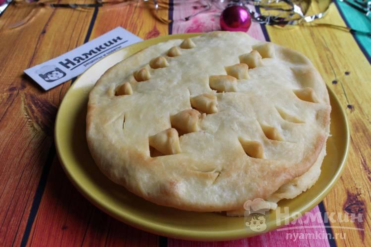 Рождественский хлеб по-исландски на сковороде