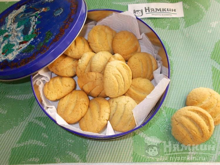 Домашнее песочное печенье на скорую руку