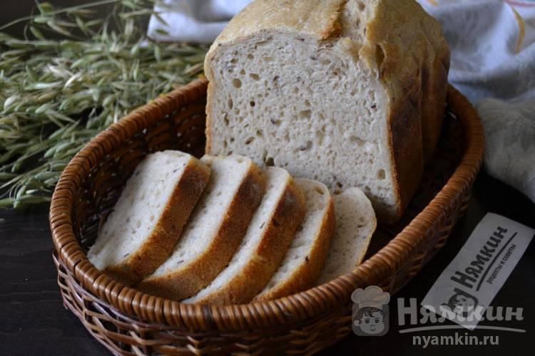 Картофельный хлеб на ржаной закваске с семенами льна в хлебопечке