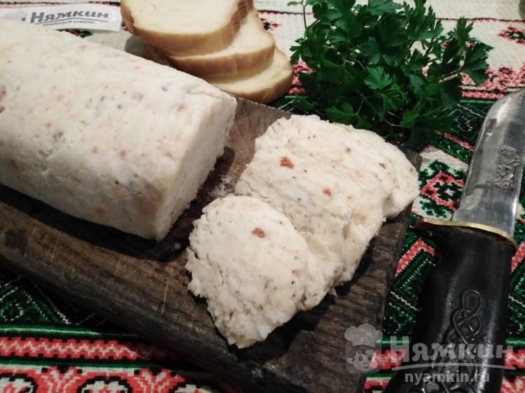 Бутербродное сало с чесноком и специями по-украински