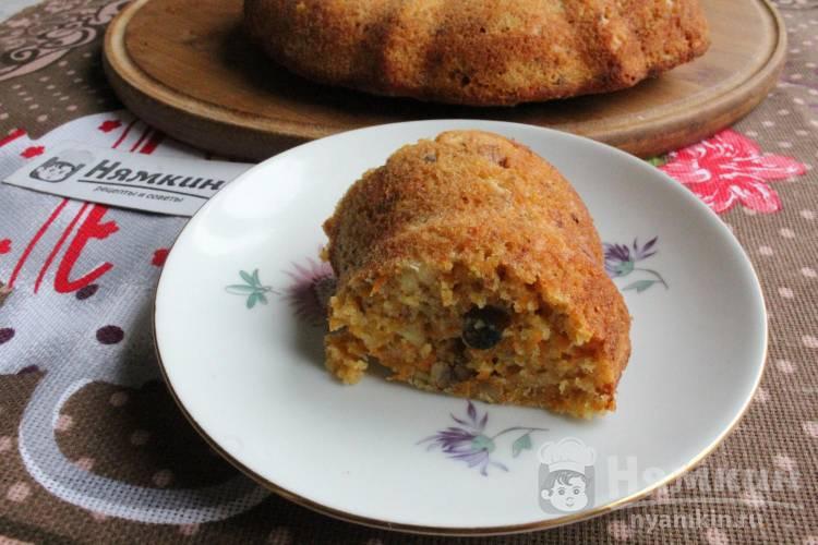 Морковный кекс с грецкими орехами в духовке