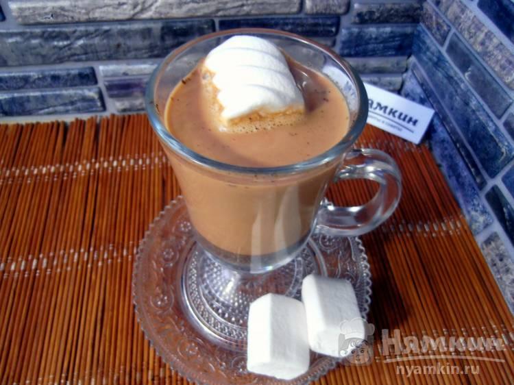 Кофе на молоке с пряностями в турке