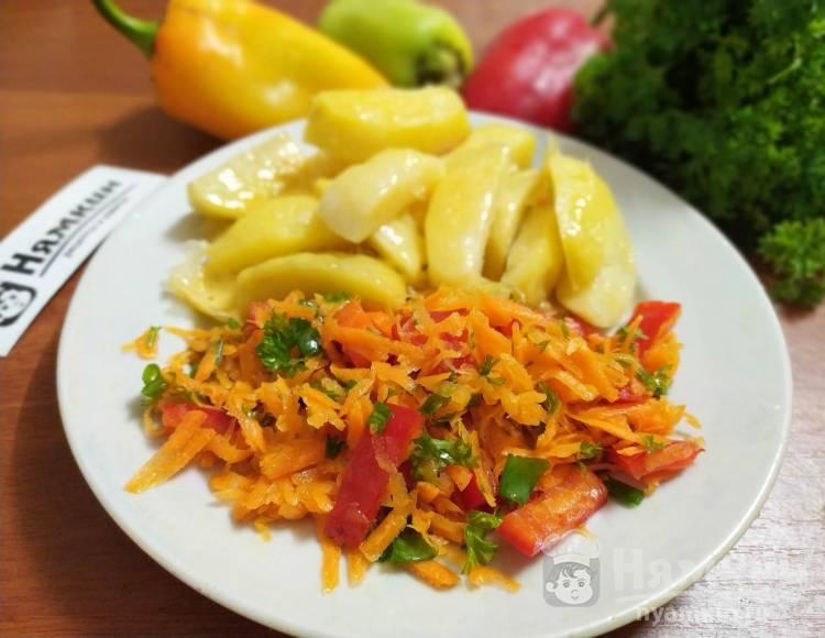 Витаминный салат из морковки и сладкого перца