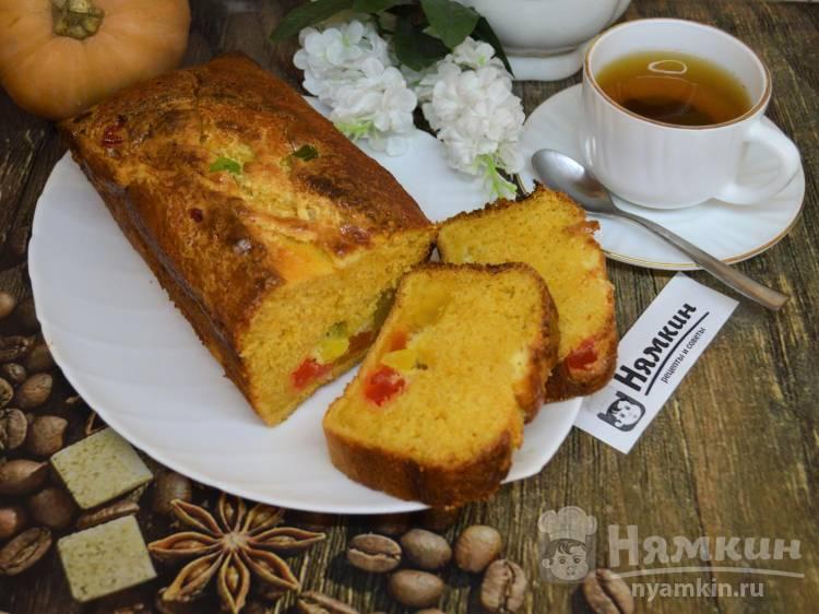 Тыквенный кекс с цукатами из ананаса