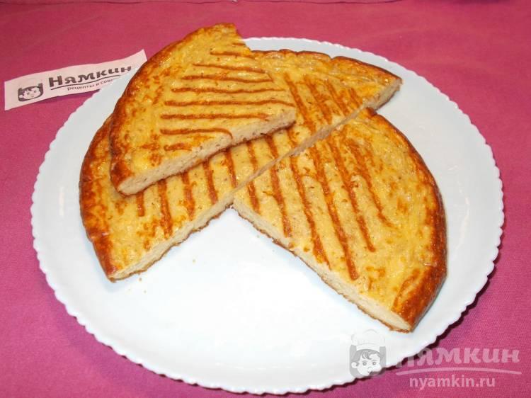 Омлет на кефире с сыром и псиллиумом на сковороде