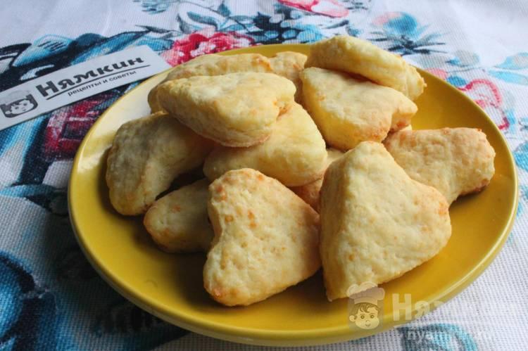 Творожное печенье на скорую руку в духовке