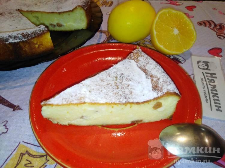 Лимонный сырник с изюмом в духовке на завтрак
