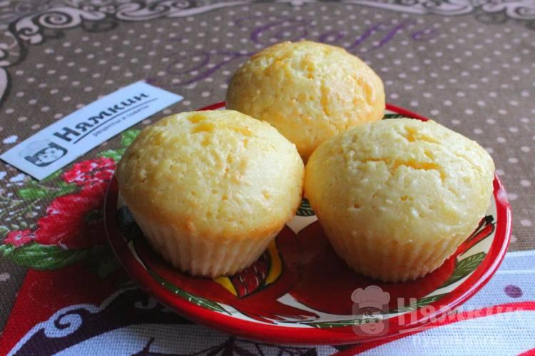 Творожные кексы с кокосовой стружкой в формочках