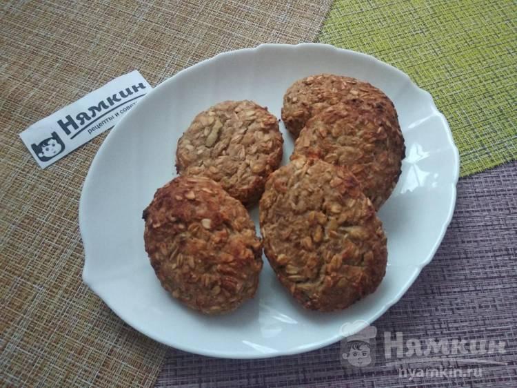 Овсяное ПП печенье на гречневой муке с творогом, фруктами и орехами