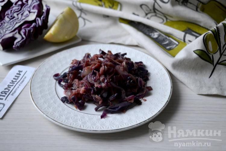 Красная капуста с яблоками, медом и тмином по-чешски