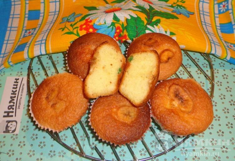 Творожные кексы с цукатами и сушеными бананами