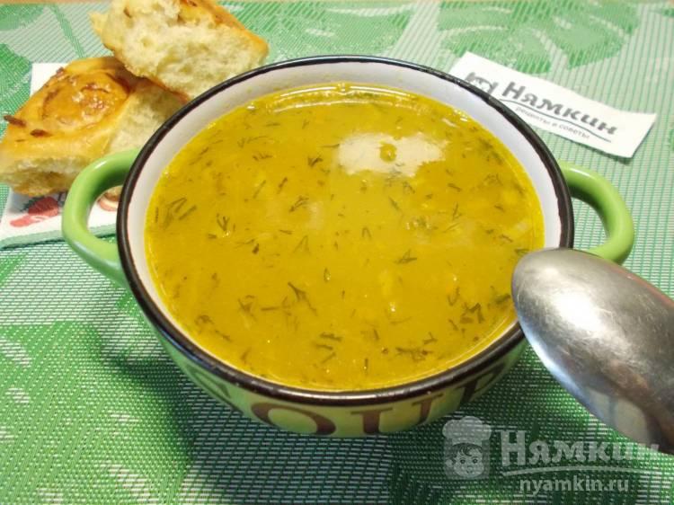 Постный гороховый суп на сытный обед