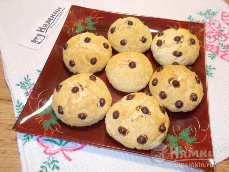Сахарное печенье с шоколадными каплями на скорую руку