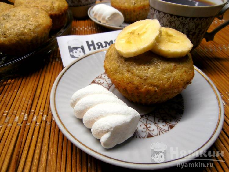 Банановые маффины в духовке — ароматная выпечка к чаю