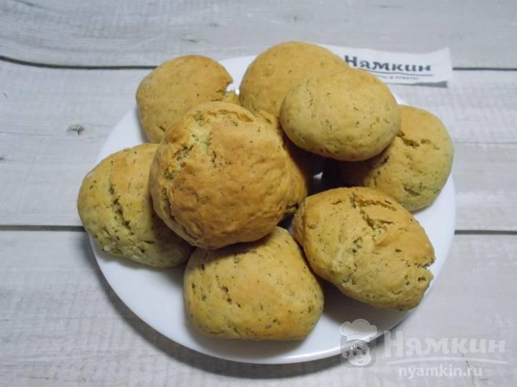 Мятные булочки на рассоле — вкусная постная выпечка