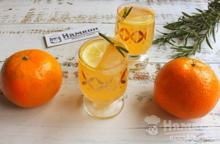 Лимонад из мандаринов и розмарина