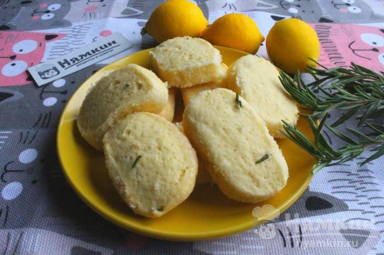 Песочное сахарное печенье с розмарином в духовке