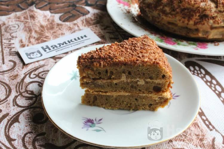 Бисквитный торт с масляным кремом Кофейное удовольствие