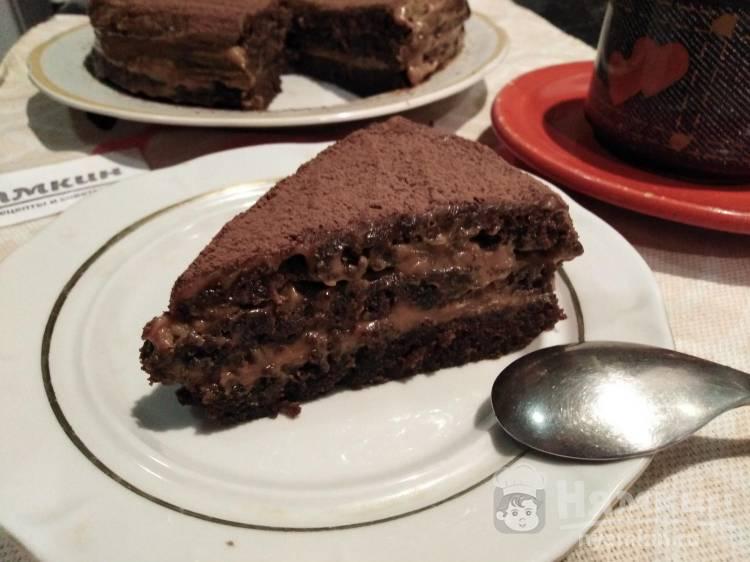 Шоколадный торт с варёной сгущёнкой в мультиварке