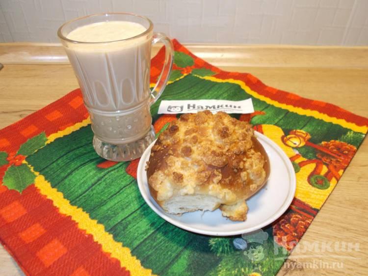 Пышные булочки на молоке со штрейзелем